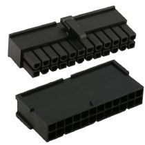 Black 24 Pin Male And Female ATX Power Connectors And 48 Crimps